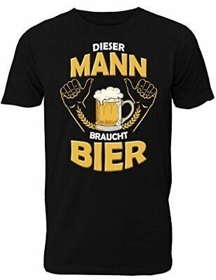 Fun T-Shirt Herren - mit Spruch Dieser Mann Braucht Bier