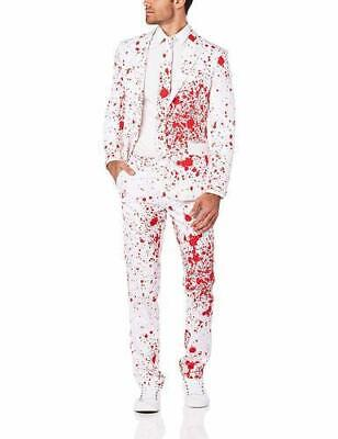 Oppo Suits Halloween (NEW OppoSuits Men's Bloody Harry Halloween Suits - White/Red - Size:)