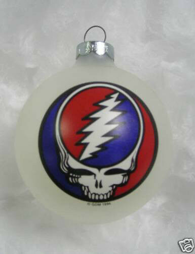 Grateful Dead Steal Your Face Limited Edition Ornament 1996 white new os