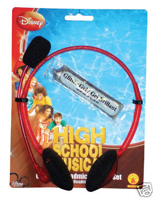 High School Musical Gabriella Microphone Tattoo Halloween Costume Accessory Set