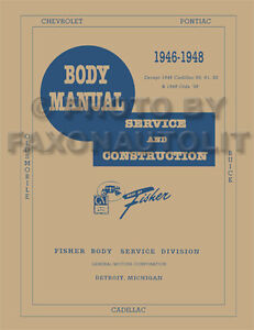 1946-1947-1948-Oldsmobile-Body-Shop-Manual-60-66-68-76-78-90-98-Olds-Repair-Book
