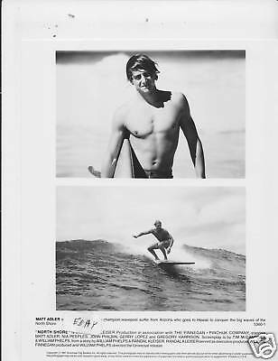 Matt Adler barechested VINTAGE Ph  Surfing North Shore