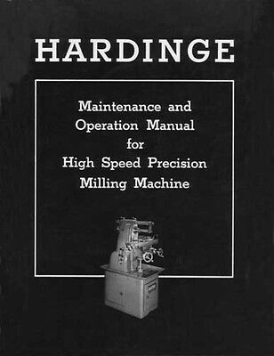 Hardinge High Speed Precision Milling Machine Manual