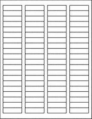 1.75x.5 Matte White Blank Printable Return Address Labels W Removable Adhesiv