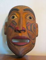 Northwest Coast First Nations BC  Native Indigenous Carved Mask