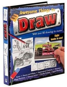 ▀▄▀Awesome Things to Draw Hardcover Spiral Bond Book
