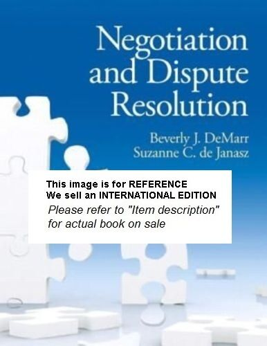 Negotiation and Dispute Resolution by Beverly DeMarr, Suzanne(Int' Ed Paperback)