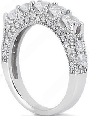 Wedding Anniversary Colors (Round cut Diamond Wedding Ring Anniversary Band F color VS clarity, 2.88)