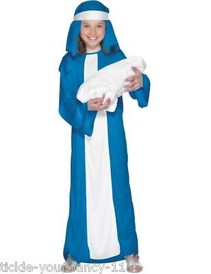 Girl's Mary Fancy Dress Costume Book Day Bible Nativity Kids Party School Play - Bible Costumes For Girls