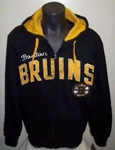BOSTON BRUINS Full Zip Hoody w/ Screened & Sewn Logos