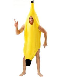 BANANA COSTUME FANCY DRESS OUTFIT UNISEX MEN WOMEN FUNNY STAG NOVELTY FRUIT