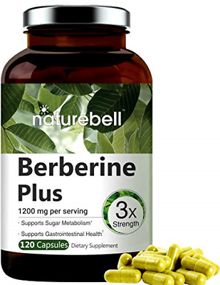 Maximum Strength Berberine Plus, 1200mg Per Serving, 120 Capsule, Powerfully Fat