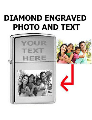 Zippo Custom Lighter Customize Engraved Photo High Polished