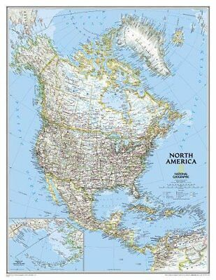 North America Classic, laminated : Wall Maps Continents:  -9780792250173- NG-107