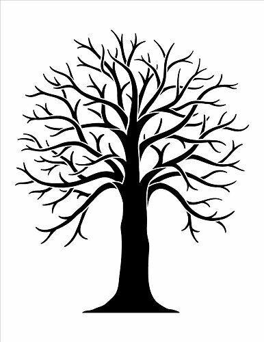 Tree Stencil by StudioR12 | Country Nature Art - Medium 8.5 x 11-inch...