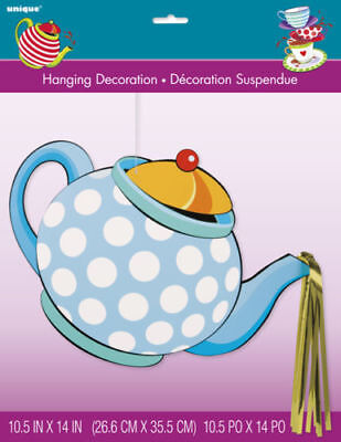 Mad Hatter Tea Party Hanging cutout decoration  Birthday Supplies Alice Teapot](Mad Hatter Party Decorations)