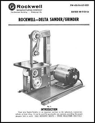 Rockwell Delta 1 Inch Sander Grinder Manual