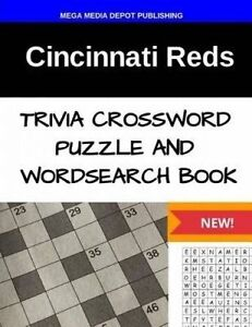 Cincinnati Reds Trivia Crossword Puzzle and Word Search Book by Mega Media Depot