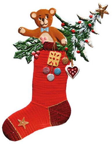 """WILHELM SCHWEIZER GERMAN ZINNFIGUREN Christmas Stocking (2.5"""" High)"""