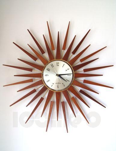 Starburst Sunburst Clock Ebay