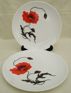 Wedgwood Susie Cooper CORNPOPPY  TWO x 8.1/8