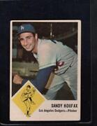 1963 Sandy Koufax Fleer Baseball Cards