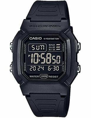 Casio Men's Digital Quartz Watch with Plastic Strap W-800H-1BVES