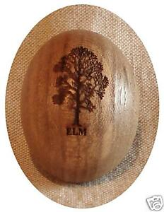 Elm Wooden Pebble Silhouette laser engraved