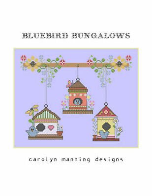 10% Off The CM Designs counted X-stitch Chart - Bluebird Bungalows