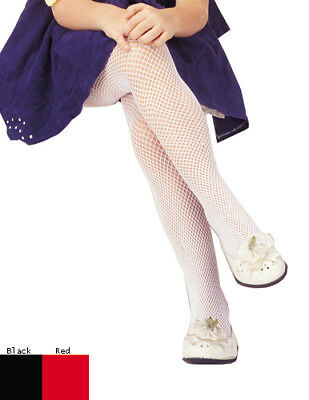 Girls White Fishnet Stockings for Child Costumes - Girls White Fishnet