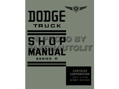 1938 Dodge Pickup and Truck Shop Manual 38 Repair Service base book for 1939