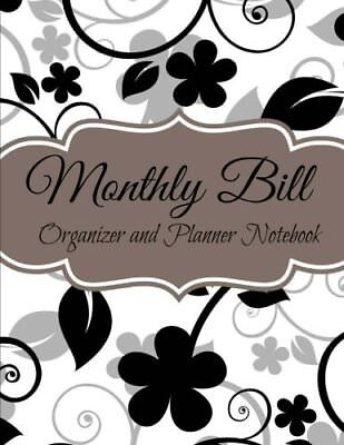 Monthly Bill Organizer and Planner Notebook Budget Planners-Extra Large Volume