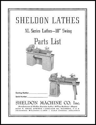Sheldon 10 Inch XL Series Lathe Parts Manual