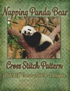 Napping Panda Bear Cross Stitch Pattern by Warrington, Tracy -Paperback