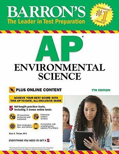 Barron s AP Environmental Science  7th Edition  with Bonus Online