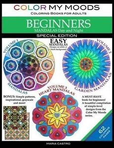 Color My Moods Coloring Books for Adults, Mandalas Day and Night  9780692721940