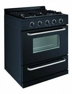 Off grid propane range 30 inch, black or white with window