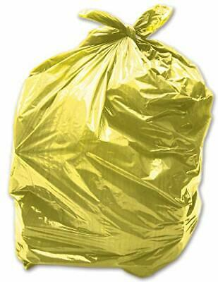 25 x Yellow 90L Medium-Duty 28 Micron / 112 Gauge Alina Coloured Refuse Sack/...