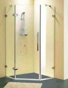 SALE Corner Frameless Shower Screen Only -1000x1000mm Yatala Gold Coast North Preview