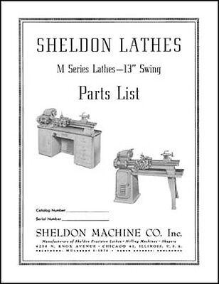 Sheldon M Series 13 Inch Swing Lathe Parts Manual