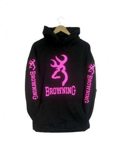 Pink Browning Hoodie | eBay