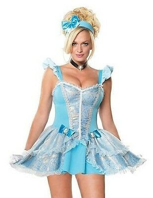 FAIRY TALE PRINCESS 3 pc. ADULT Large Movie Costume Short N Sexy Cinderella- N18