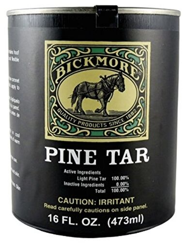 BICKMORE PINE TAR Antimicrobial Germicidal Treatment Hooves Horse Cattle 16oz
