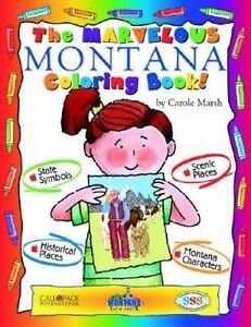 Marvelous Montana Color Bk by Marsh, Carole -Paperback