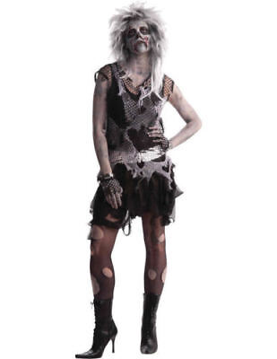 Womens Zombie Punk Walking Dead Halloween Fancy Dress Costume ()