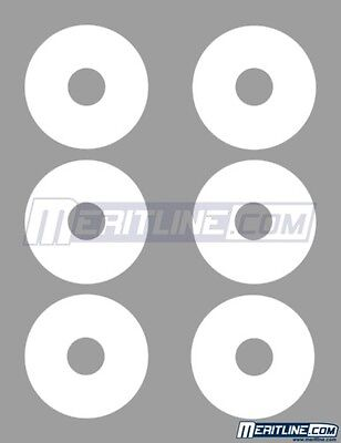 300 White Inkjet Laser Printable Matte Mini CD DVD Disk Label Full Face 22mm Hub Full Face Matte Cd Label