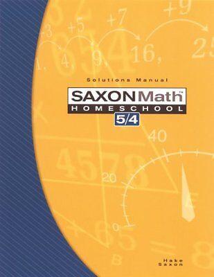 Saxon Math Homeschool 5 / 4 by Stephen Hake