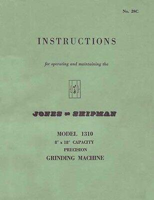 Jones Shipman Model 1310 Grinding Machine Manual