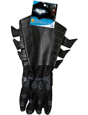 Kid's Batman Black Gloves Dark Knight Movie Fancy Dress Costume Boys Accessory - Batman Black Knight Kostüm