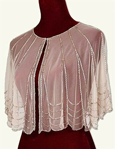 Victorian Trading Co. Pink Champagne Sheer Evening Cape With